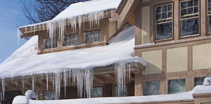 An Ice Dam on Your Roof Can Cause Leaking and Damage